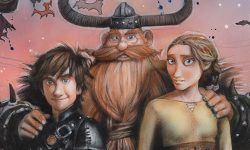 Legendary poster artist Drew Struzan creates posters for How To Train Your Dragon trilogy